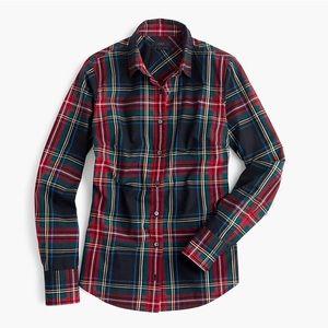 J. Crew Women's Perfect Shirt in Stewart Plaid
